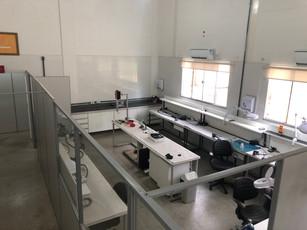 Nosso laboratório de tubos visto de cima