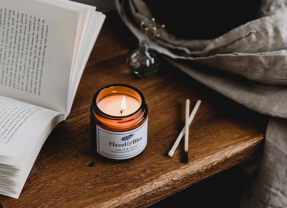 Calm & Cosy Essential Oil Soy Candle - Natural & Eco-Friendly