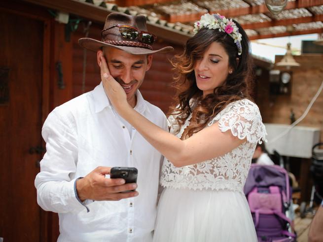 מורן ואליק - חתונה קטנה בחצר