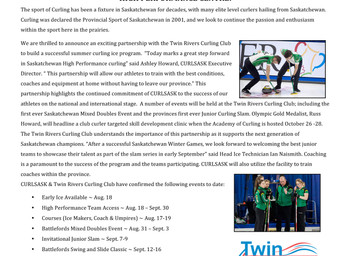 Press Release for High Performance Camp in North Battleford this Fall