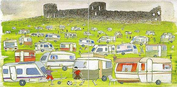 Pevensey Castle & Caravans