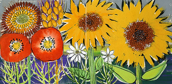 Poppies & Sunflowers