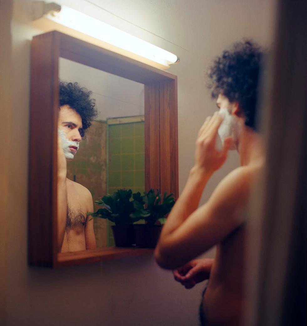 Misha shaving, 2013