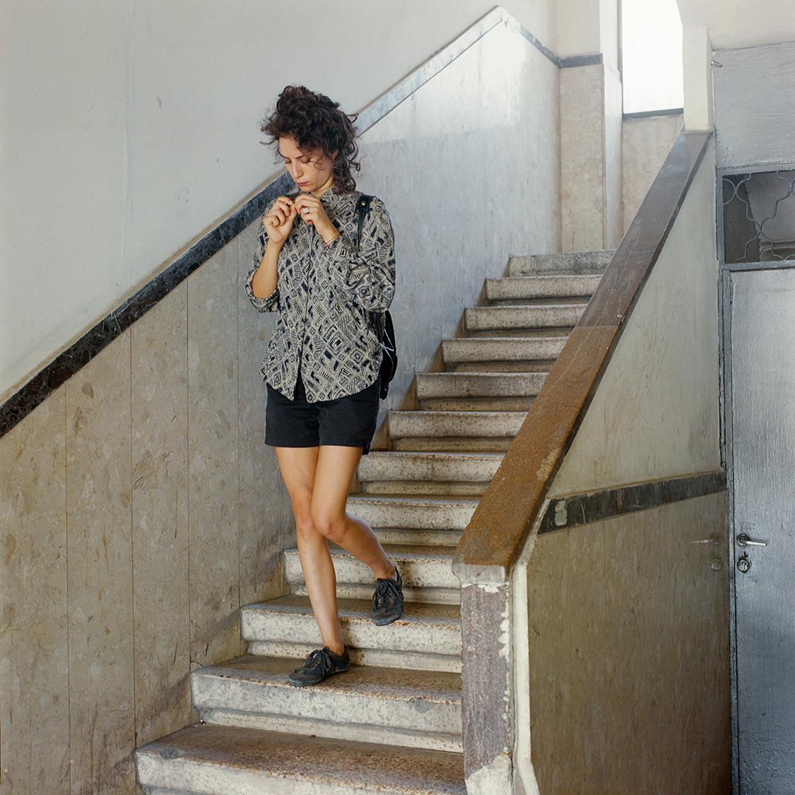 Ella is walking downstairs, 2015