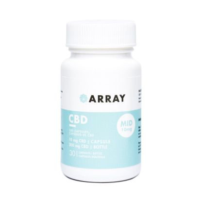 Array CBD Capsules (10mg CBD – 30 caps/bottle)