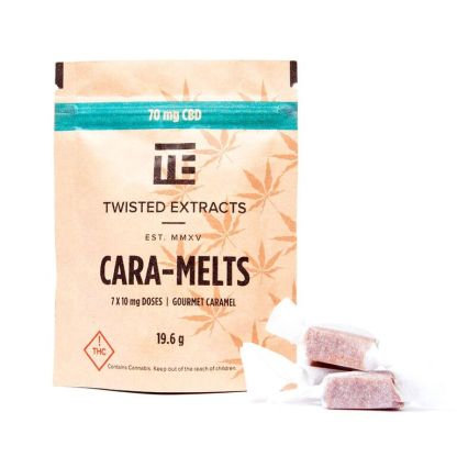 Twisted Extracts CBD Cara-Melts (10mg CBD ea.) – 7 cara-melts/pack