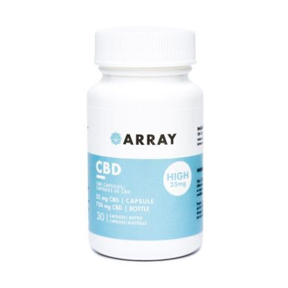 Array CBD Capsules (25mg CBD – 30 caps/bottle)