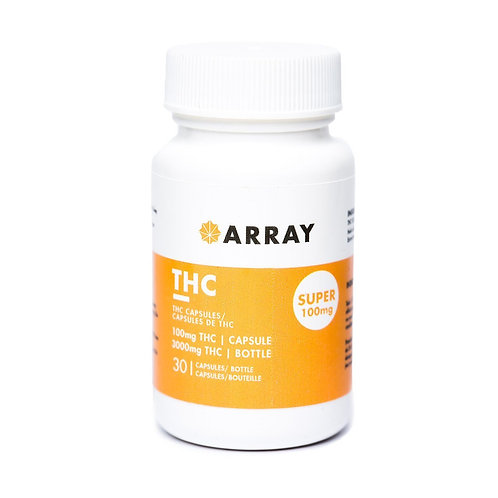 Array 100mg THC capsules