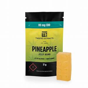 CBD Pineapple or Peach Jelly Bomb 80mg