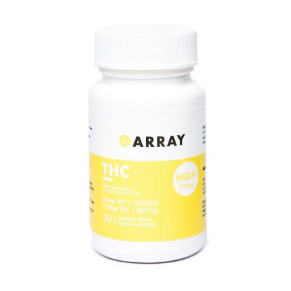 Array THC Capsules (25mg THC – 30 caps/bottle)