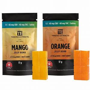Mango or Orange CBD Jelly Bomb 40mg THC/40mg CBD