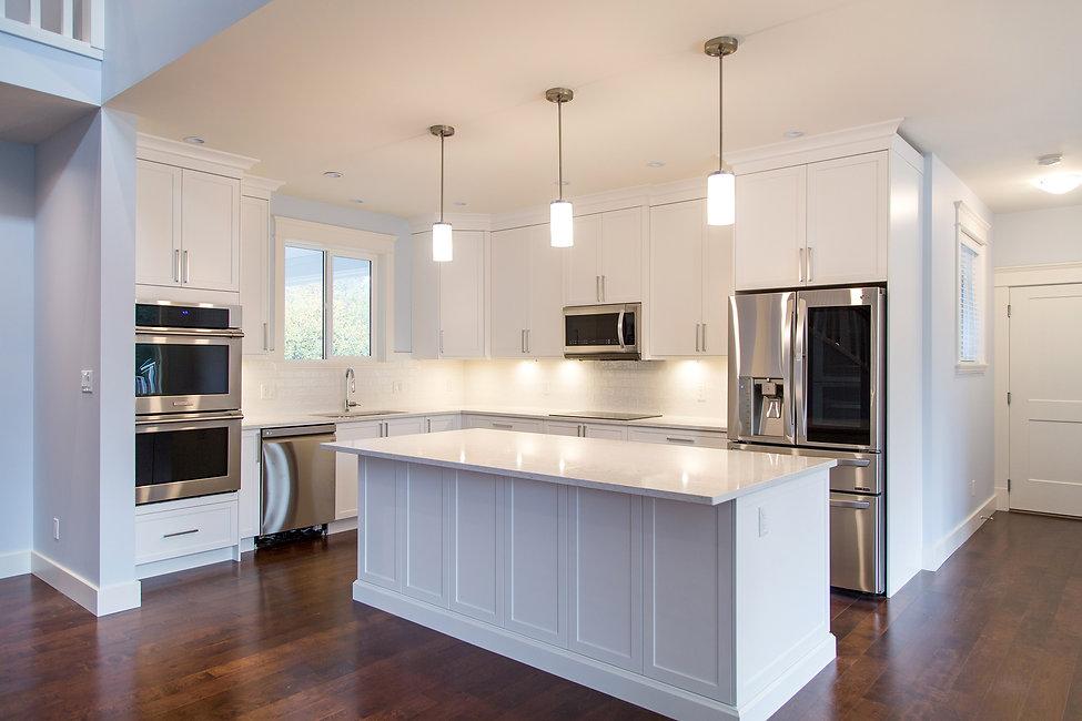 Custom Home Modern White Kitchen