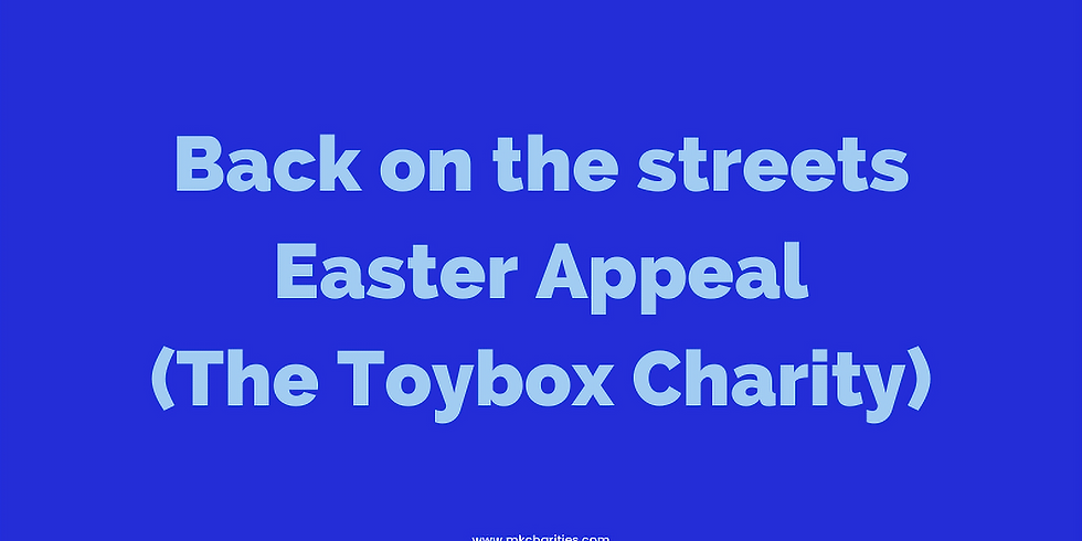 Back on the streets easter appeal