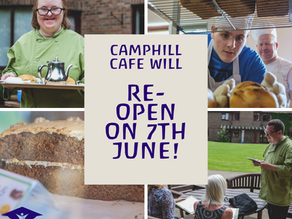Camphill MK Café to Reopen Monday 7th June