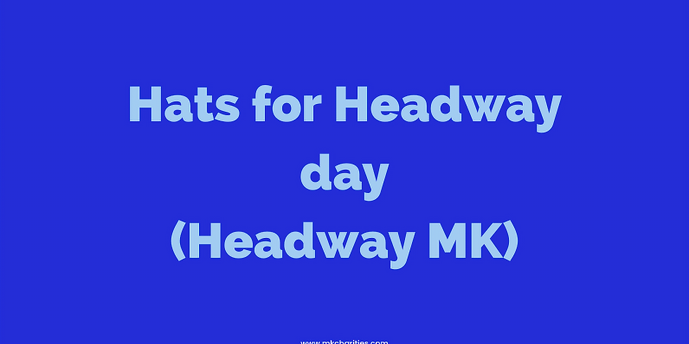 Wear a hat for headway day