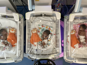 Triplets become first to make use of new incubator units