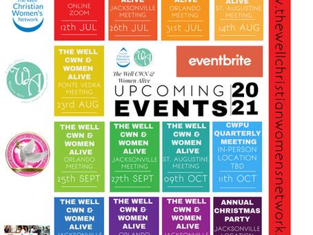 Upcoming Meetings July-December 2021
