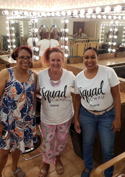 Valerie, Allene, and Shana