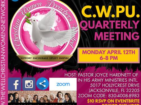 Christian Women Preachers United Quarterly Meeting