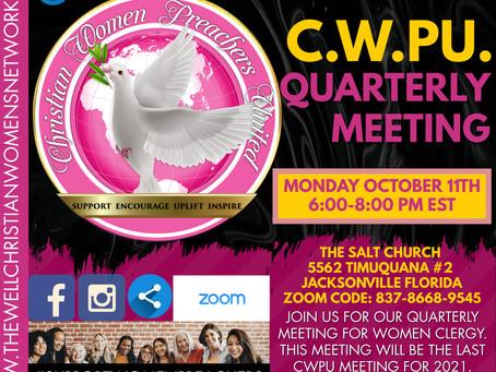 CWPU Quarterly Meeting