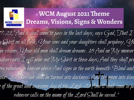 Dreams, Visions, Signs and Wonders Study Guide