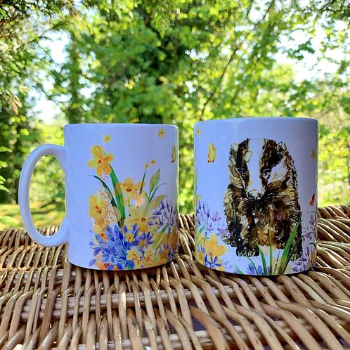 Butterfly Badger Mug