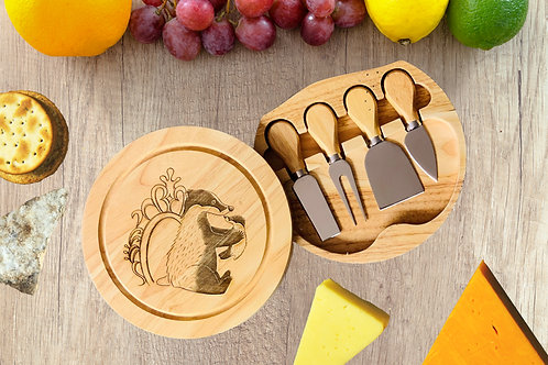 Wooden Cheese Board Set with Tools