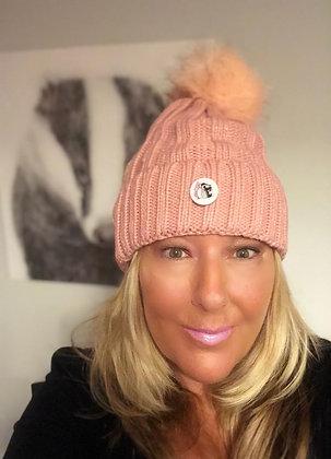 Pink Winter Woolly Bobble Hat