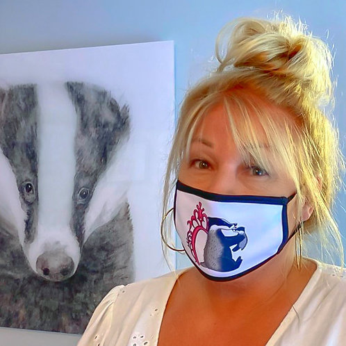 Love Cub Badger  Face Covering