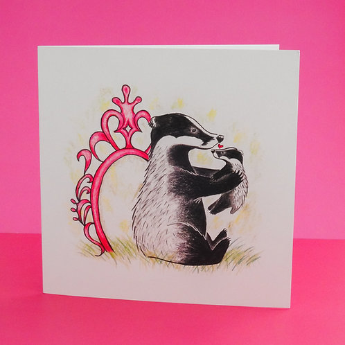Badger Love Cub Card