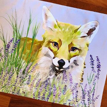 Foxy Loxy Lavender Field T Towel