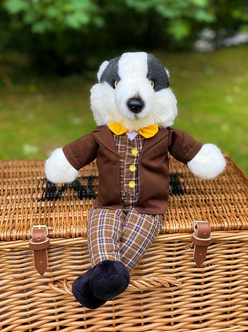 Mr Badger Dressed Hand Puppet