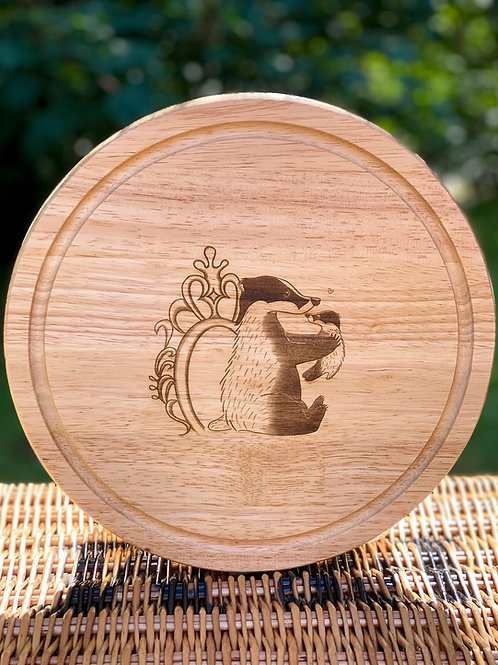 Wooden Chopping / Cheese  Board Round Large Size