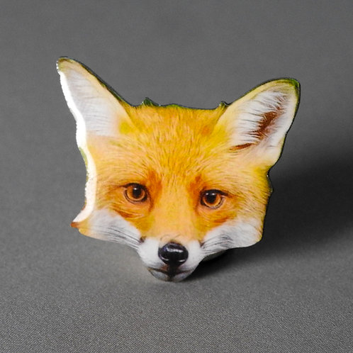 Foxy Loxy Epoxy Pin / Lapel Badge