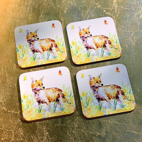 Butterfly Fox Coasters