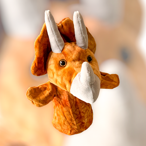 Terry The Triceratops Dinosaur Hand Puppet