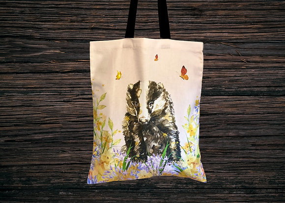 Butterfly Badger Tote Bag