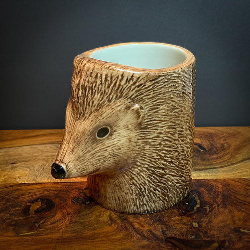 Quail Ceramic Hedgehog Pencil / Flower Pot