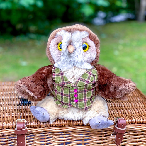 Mr Owl Dressed Hand Puppet