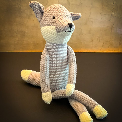 Willberry Mr Grey Fox Knitted Toy