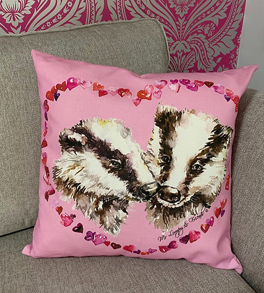 Love Badgers Cushion