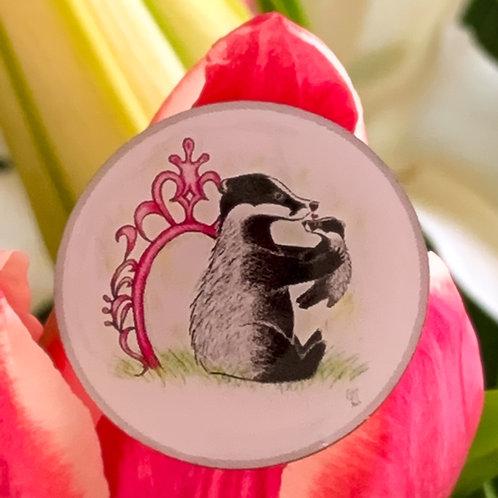 Badger & Cub Love Pin Badge