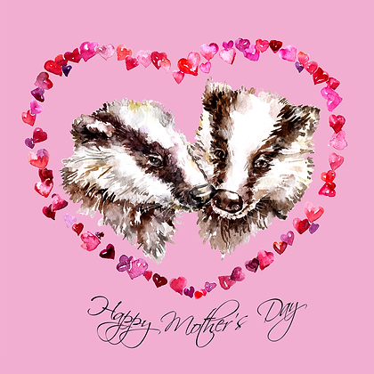 A Badger's Love Mother's Day Card