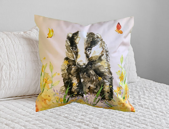 Butterfly Badger Cushion