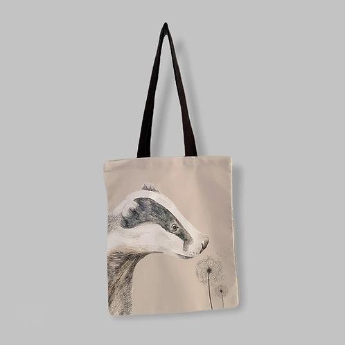 Dandelion Badger Tote Bag