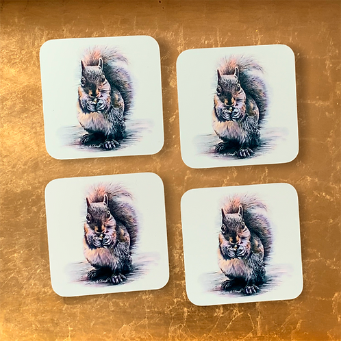 Sidney Squirrel Drinks Coasters