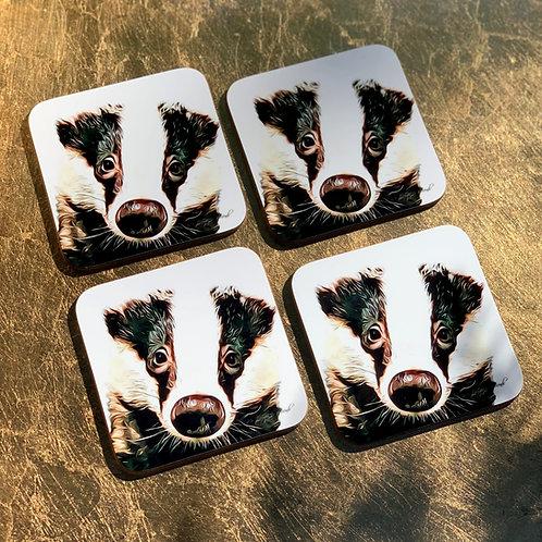 Baby Bumpy Badger Coasters