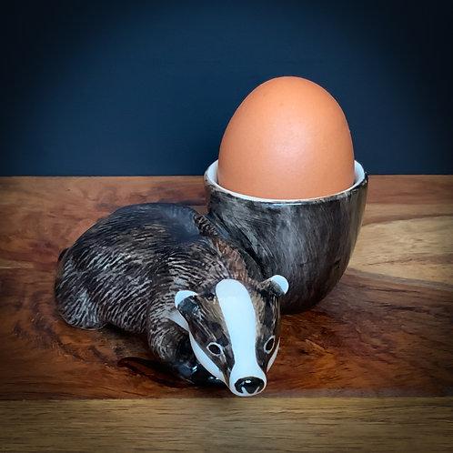 Quail Ceramic Badger Egg Cup