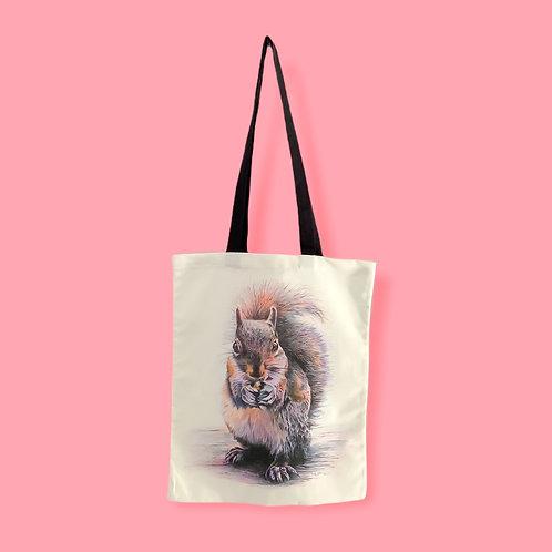 Sidney Squirrel Tote Bag