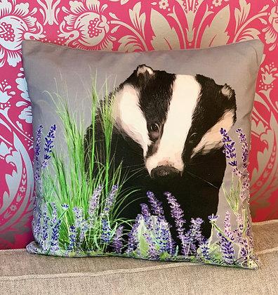 Mr Lumpy Lavender Field Cushion